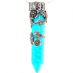 Blue Turquoise Rose & Flower Wand